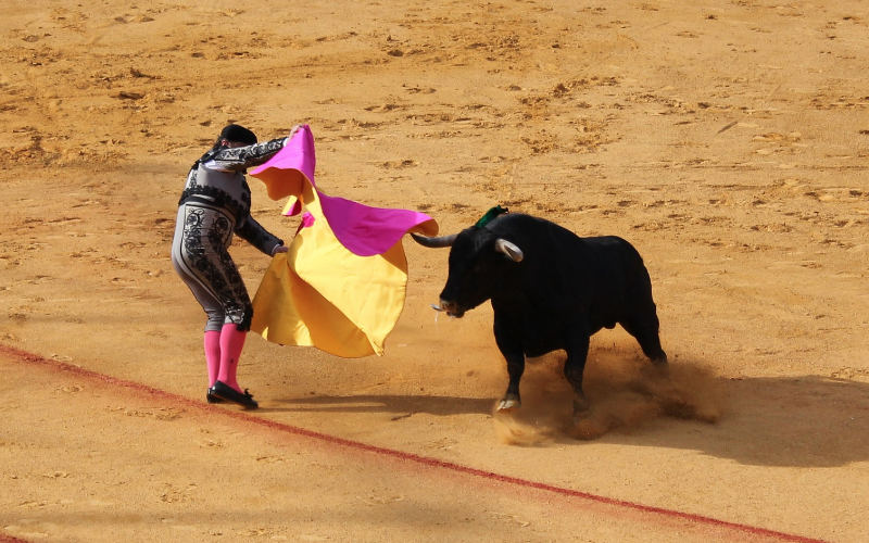 Stierenvechten in Sevilla, Spanje