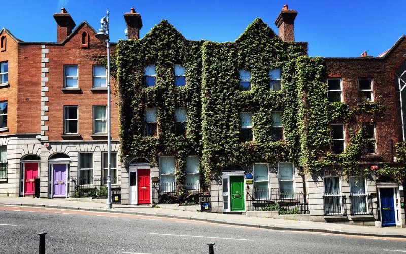huisjes in Dublin, Ierland
