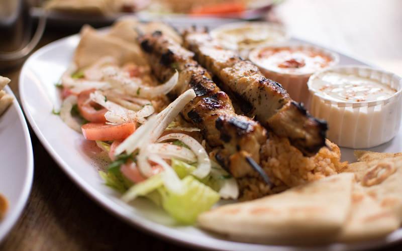 Grieks eten - Souvlaki - Citytrip Athene