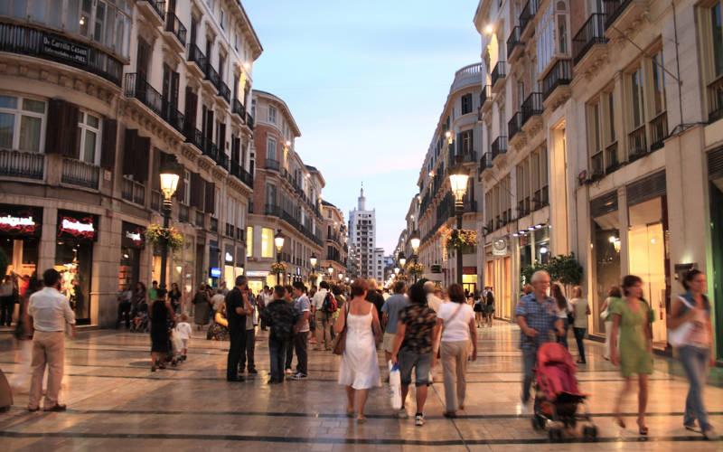 winkelen in Malaga