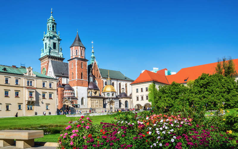 Wawel kasteel Krakau Polen